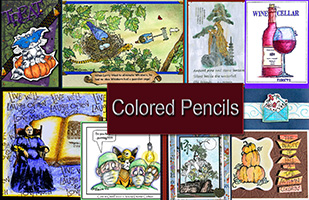 Coloring Stamped Images with Colored Pencils