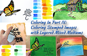 Coloring Stamped Images with Layered Mixed Mediums